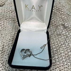 Kay jewelers heart diamond necklace